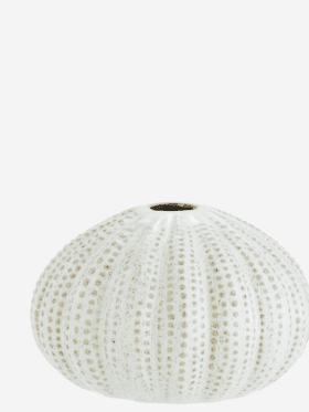 Madam Stoltz Sea Urchins Vase Offwhite
