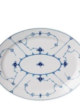 Royal Copenhagen Blue Fluted Plain Oval Dish 34cm