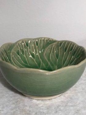 Asiatides Bowl Leaf Green Small