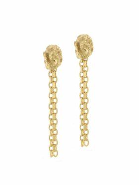 Hasla  Woods, Root earrings with flexible chain