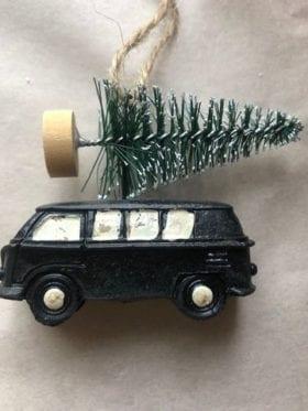 IB Laursen Car w. Xmas Tree Black Small