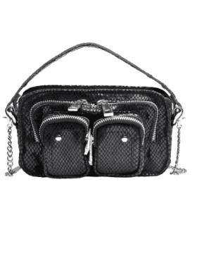 Nunoo Helena Snake Bag Black
