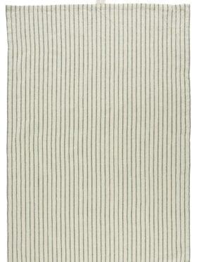 IB Laursen Tea towel natural w/small green stripes