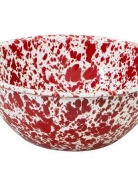 Crow Canyon Splatter Cereal Bowl Burgund