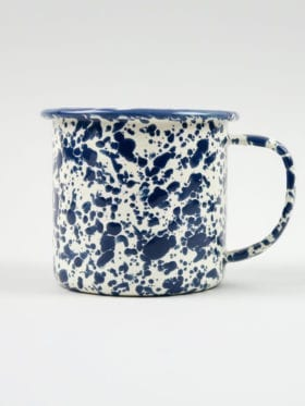 Crow Canyon Splatter Mug Deep Blue