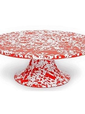 Crow Canyon Cake Platter Red