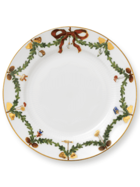 Royal Copenhagen Star Fluted Christmas Plate Flat 19cm