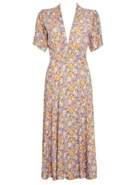 Faithfull Meadows Midi Dress Meja Floral Print