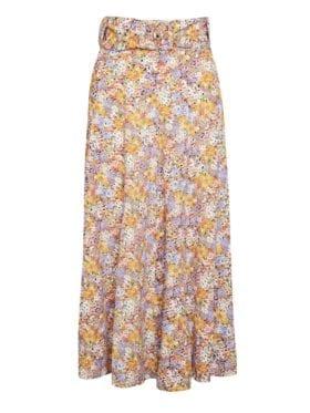 Faithfull Luda Midi Skirt Meja Floral Print