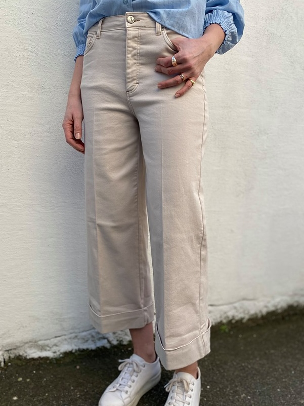 FIVEUNITS Abby High Flex Jeans Offwhite