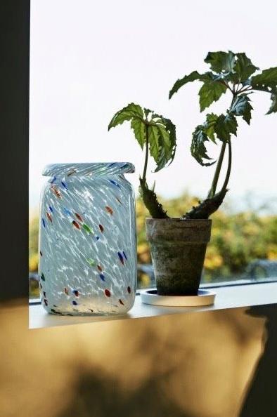 HAY Splash Roll Neck Vase Hvit M