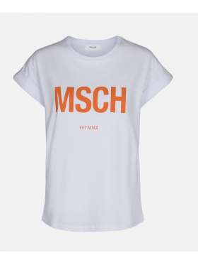 Moss Copenhagen Alva MSCH T-skjorte Hvit Orange