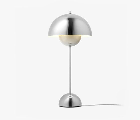&tradition Flowerpot Table Lamp VP3 Polished Stainless Steel
