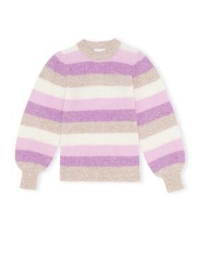 GANNI Soft Wool Knit Genser Violet