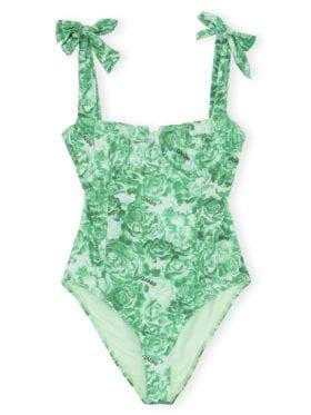 GANNI Recycled Fabric Badedrakt Grønn