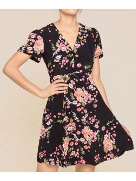 By TiMo Summer 50s Kjole Flora Black