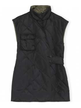 Ganni Recycled Ripstop Quilt Vest Sort