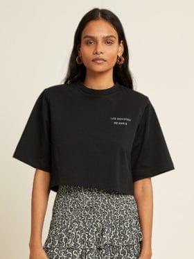 Les Coyotes de Paris Jane T-skjorte/Crop topp Sort