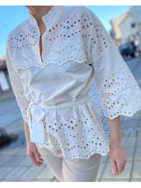 Lollys Laundry Kane Bluse Offwhite