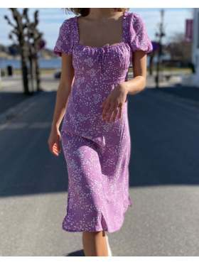 Faithfull Bette Midi Dress Lavender