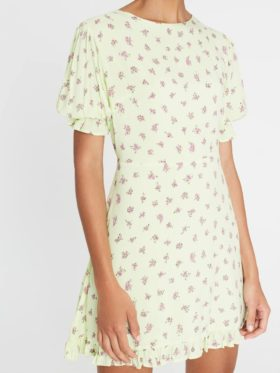 Faithfull Florence Mini Dress Lime