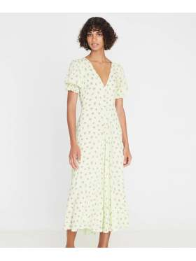 Faithfull Maggie Midi Dress Lime