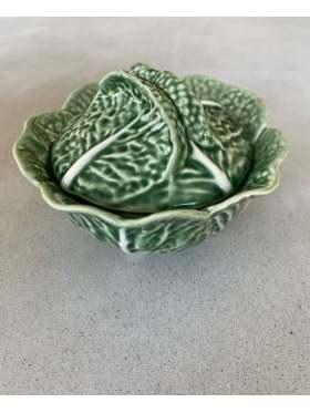 Bordallo Pinheiro Skål med lokk Grønn