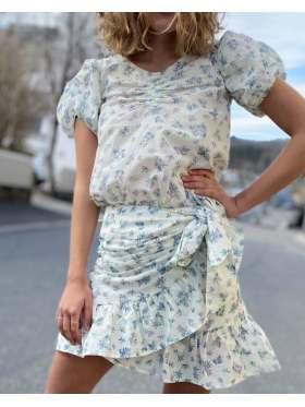 Pia Tjelta Hayley Skirt Print Spring Leaves