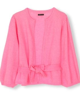 Stella Nova Holly Cardigan Neon Pink