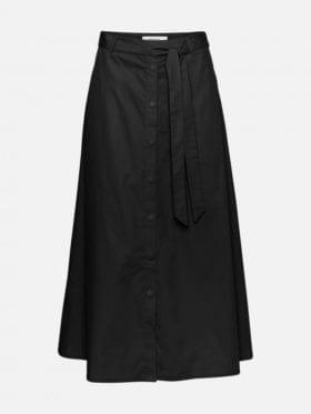 Moss Copenhagen Charlie HW Midi Skirt Sort