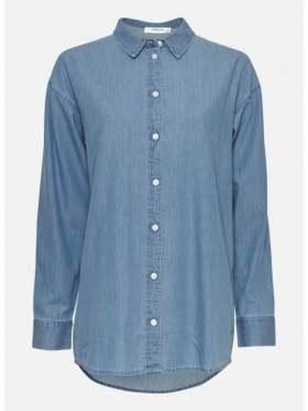 Moss Copenhagen Chea Lyanna LS Shirt Blå
