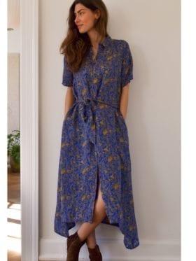 Lollys Laundry Blake Dress Neon Blue