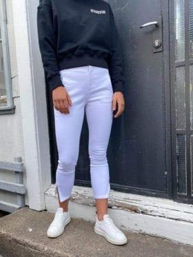 FIVEUNITS Jolie Zip Bukse Hvit
