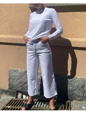 FIVEUNITS Abby Crop Jeans Hvit
