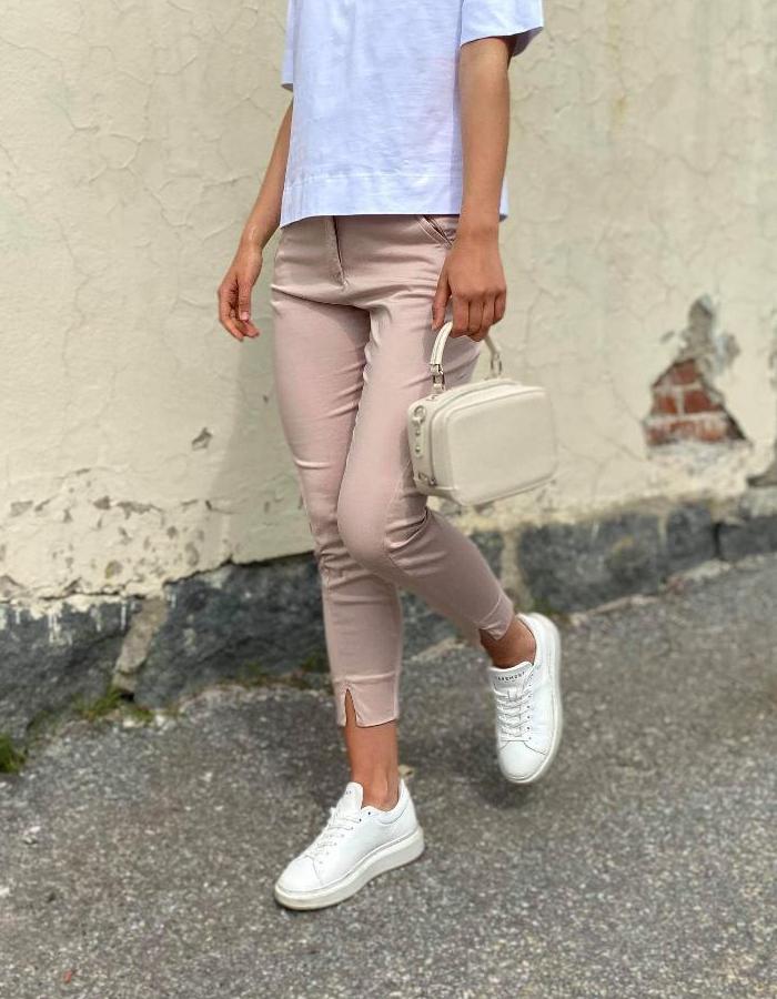 FIVEUNITS Angelie Split Bukse Shadow Grey
