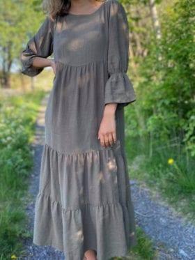 byIDA Cathy Dress Mosegrønn