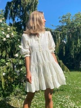 MISSMAYA Lucy Gold Lurex Kjole