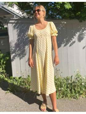 Faithfull Linnie Midi Kjole Gul