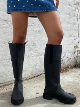 GANNI Recycled Rubber Country Støvler Sort
