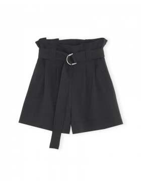 GANNI Heavy Crepe Shorts Sort
