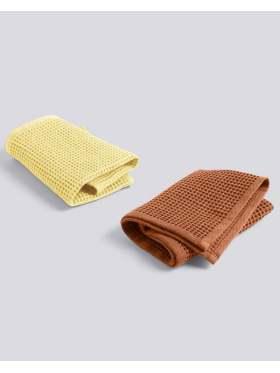 HAY Waffle Dish Cloth Terracotta/Yellow