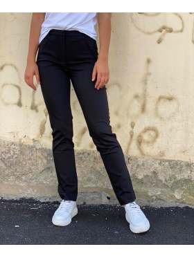 FIVEUNITS Angelie Straight Bukse Black Klarin