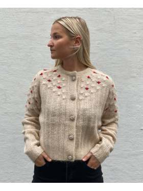 NOTES du Nord Rollo Cardigan Vinter Hvit
