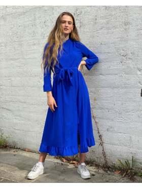 Lollys Laundry Harper Kjole Neon Blue