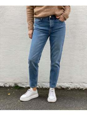 Tomorrow Hepburn HW Mom Jeans Denim Blå