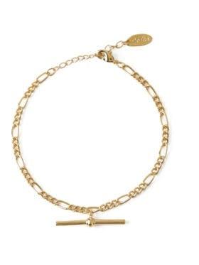 Orelia Chunky T-bar Figaro Armbånd Gull