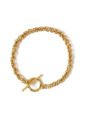 Orelia Chunky Rope T-bar Armbånd Gull