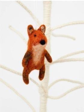 Afro Art Fox Julepynt