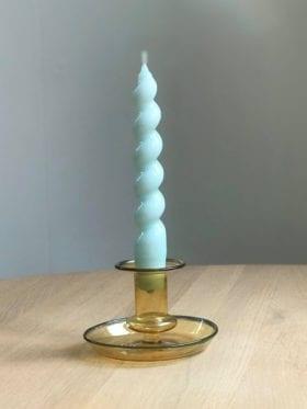 HAY Spiral Stearinlys Lys Blå