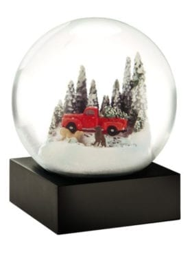 Cool Snow Globes Red Truck with Dogs